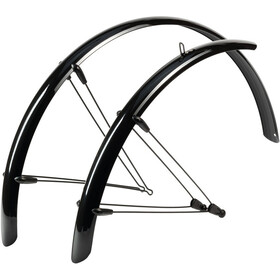 "Hebie Rainline Mudguard Set 28"" 53mm with Braces black glossy"